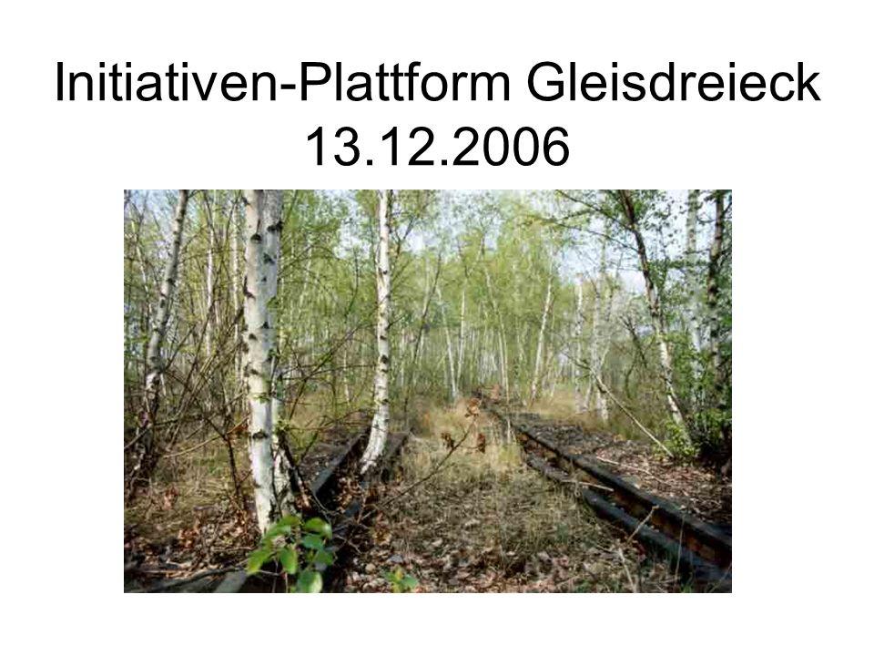 Initiativen-Plattform Gleisdreieck 13.12.2006