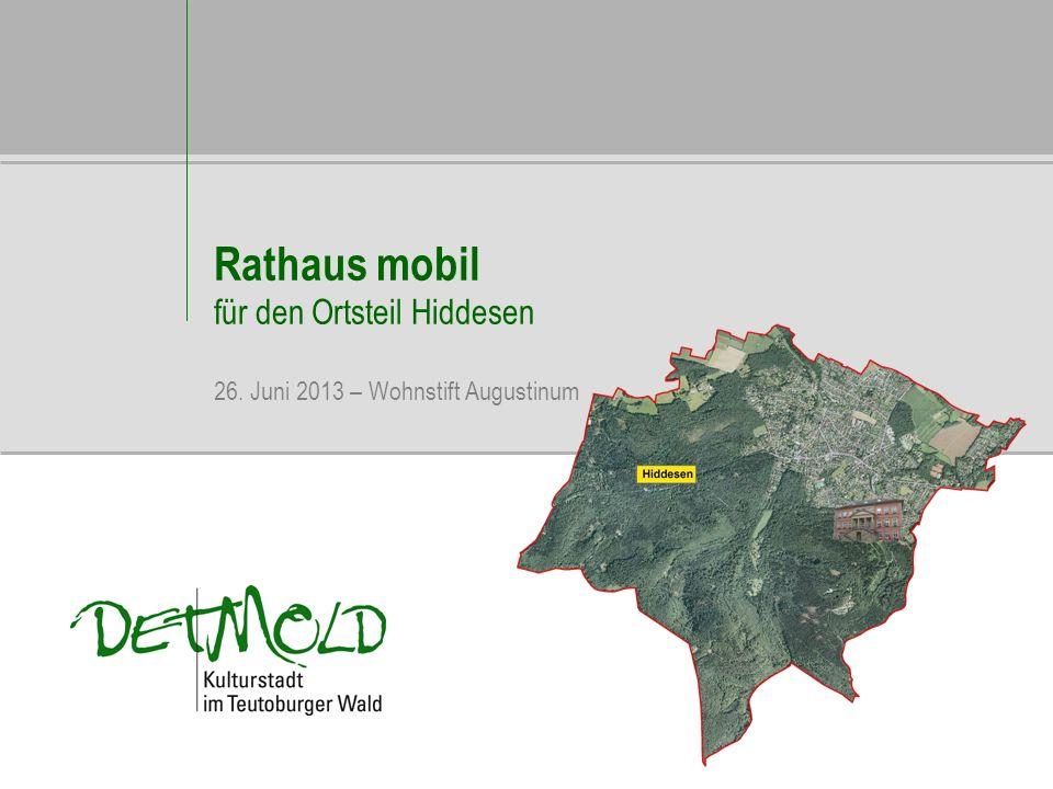 Rathaus mobil für den Ortsteil Hiddesen 26. Juni 2013 – Wohnstift Augustinum