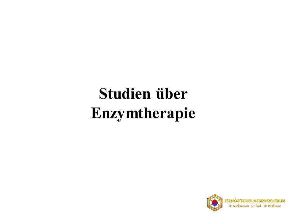 Studien über Enzymtherapie