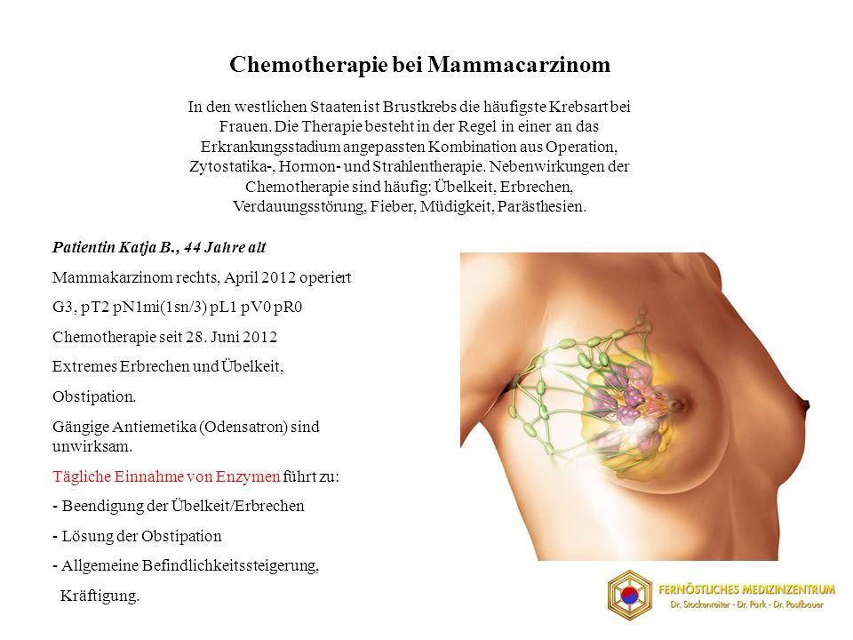 Chemotherapie bei Mammacarzinom In den westlichen Staaten ist Brustkrebs die häufigste Krebsart bei Frauen.