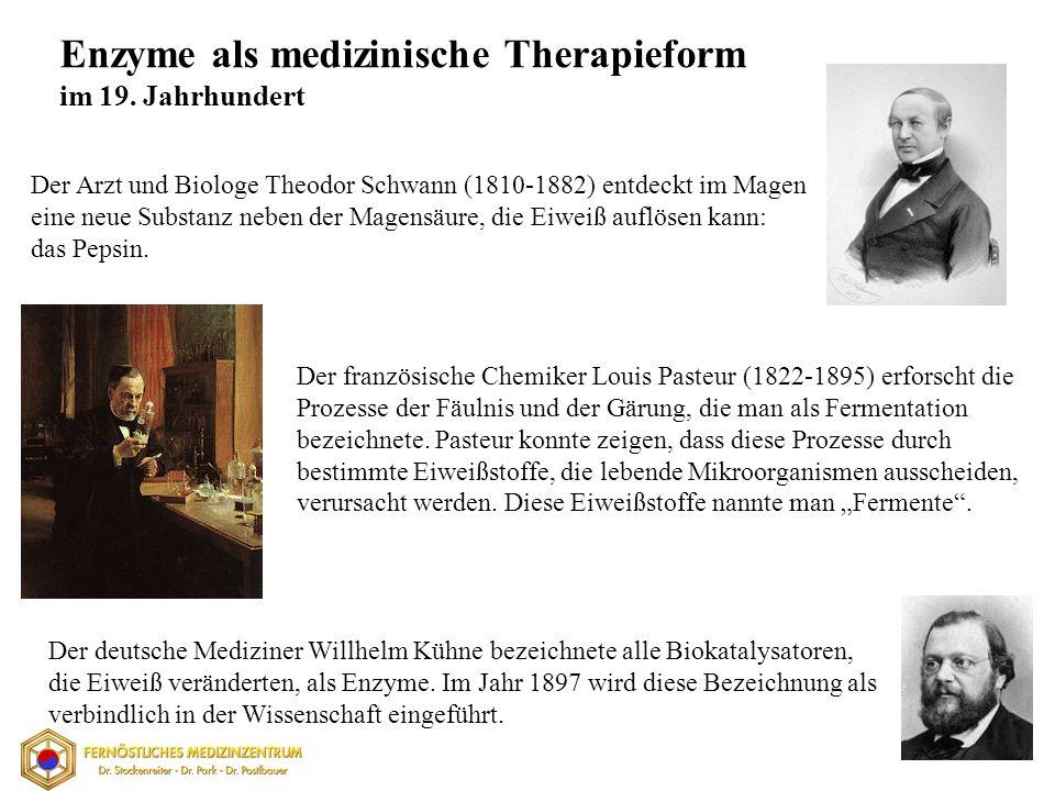 Der Arzt und Biologe Theodor Schwann (1810-1882) entdeckt im Magen eine neue Substanz neben der Magensäure, die Eiweiß auflösen kann: das Pepsin.