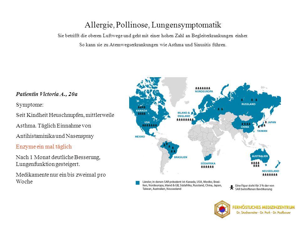 Allergie, Pollinose, Lungensymptomatik Sie betrifft die oberen Luftwege und geht mit einer hohen Zahl an Begleiterkrankungen einher.