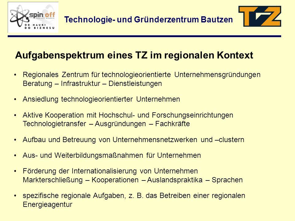 Technologie- und Gründerzentrum Bautzen Regionales Zentrum für technologieorientierte Unternehmensgründungen Beratung – Infrastruktur – Dienstleistung