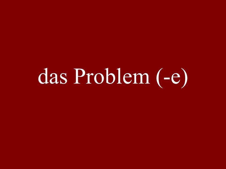 das Problem (-e)