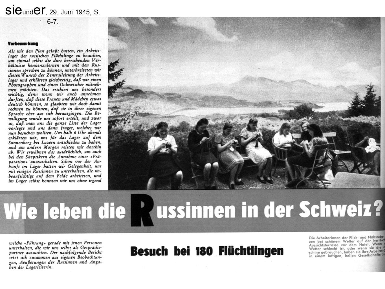 sie und er, 29. Juni 1945, S. 6-7.