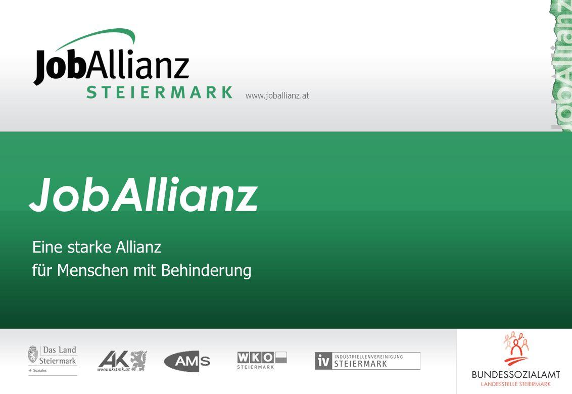www.joballianz.at JobAllianz Eine starke Allianz für Menschen mit Behinderung