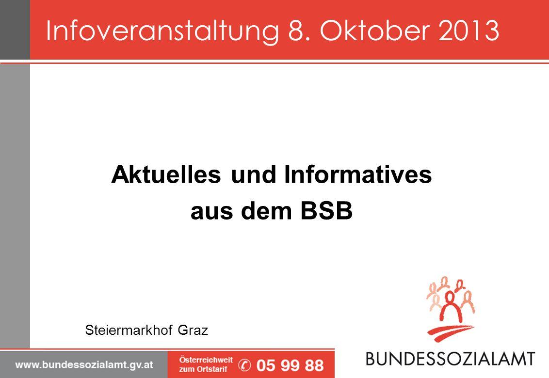 Aktuelles und Informatives aus dem BSB Steiermarkhof Graz Infoveranstaltung 8. Oktober 2013