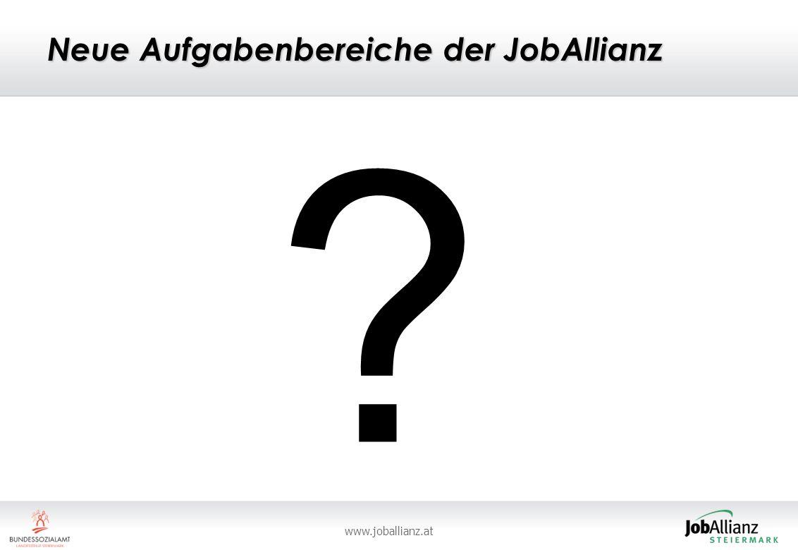 www.joballianz.at Neue Aufgabenbereiche der JobAllianz ?