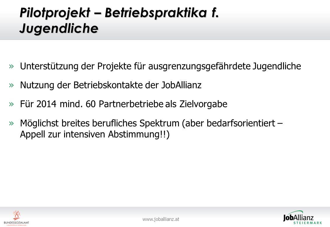 www.joballianz.at Pilotprojekt – Betriebspraktika f.