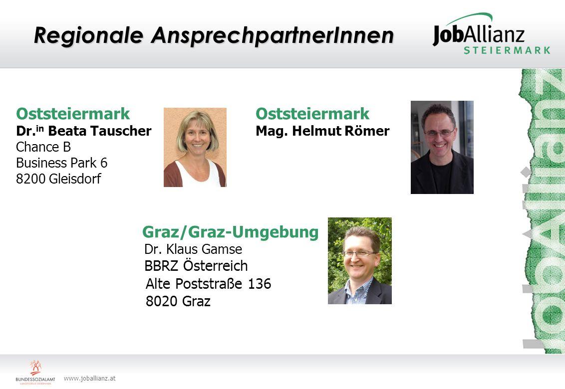www.joballianz.at Regionale AnsprechpartnerInnen Oststeiermark Dr.