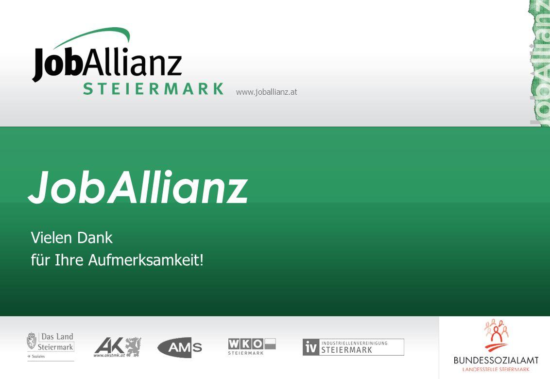 www.joballianz.at JobAllianz Vielen Dank für Ihre Aufmerksamkeit!