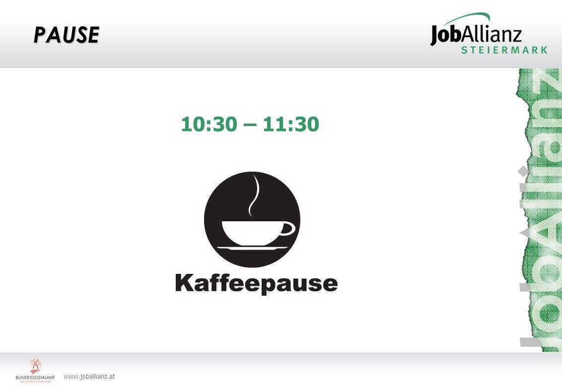 www.joballianz.at PAUSE 10:30 – 11:30