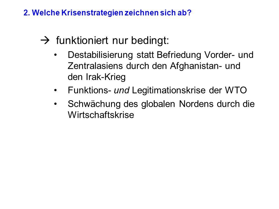 2. Welche Krisenstrategien zeichnen sich ab.