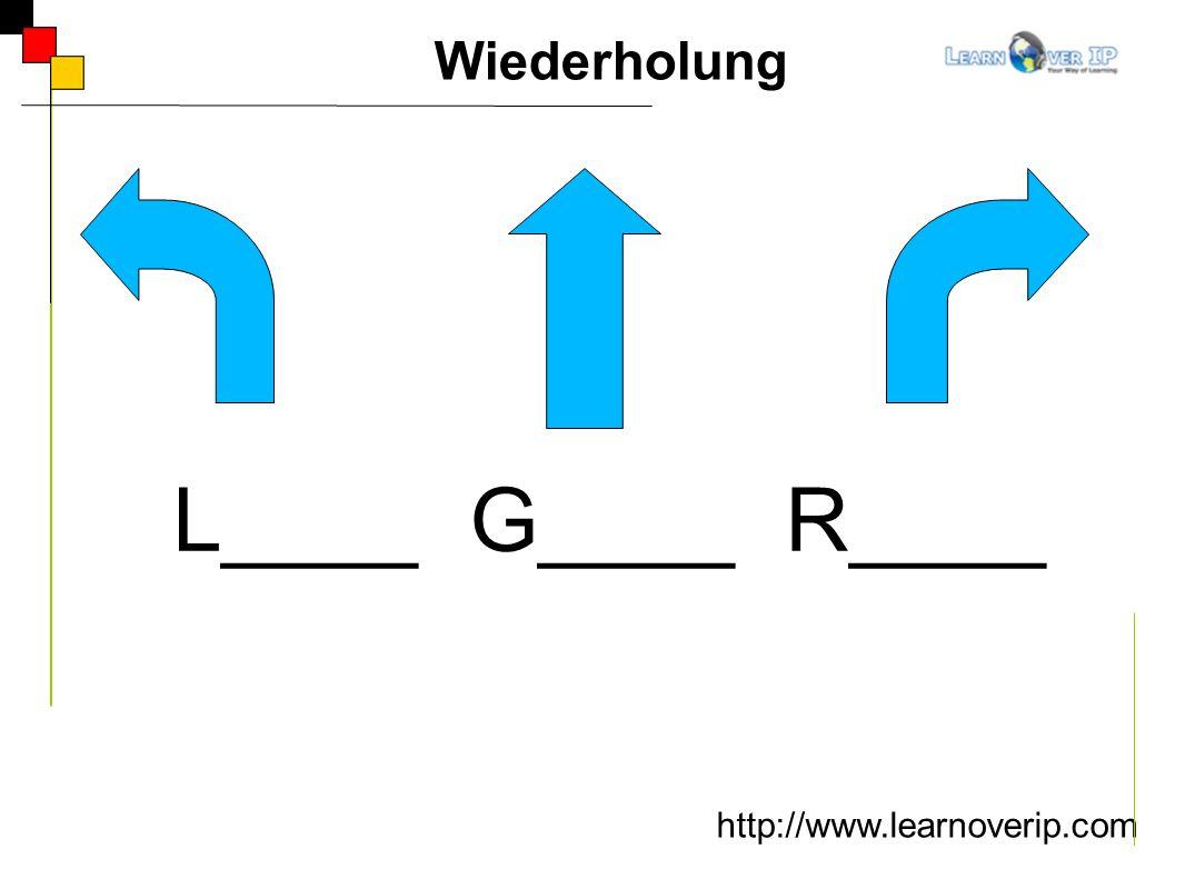 http://www.learnoverip.com Wiederholung L____ G____ R____