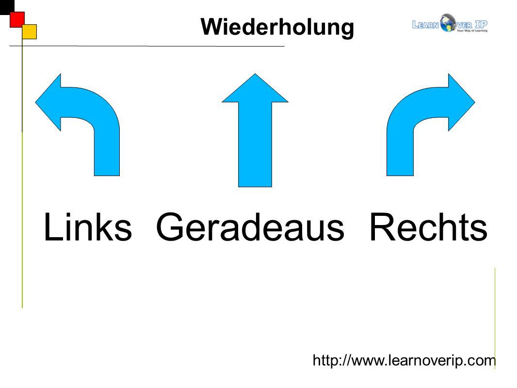 http://www.learnoverip.com Links Geradeaus Rechts Wiederholung