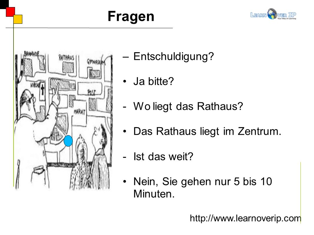 Wegbeschreibung http://www.learnoverip.com Links Geradeaus Rechts