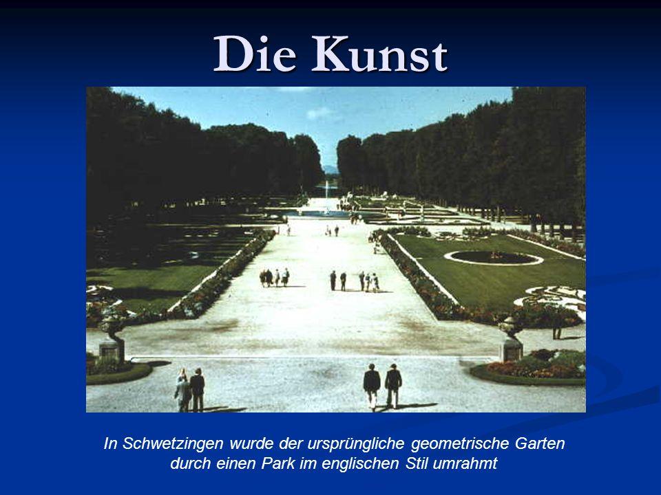 Die Kunst In Schwetzingen wurde der ursprüngliche geometrische Garten durch einen Park im englischen Stil umrahmt