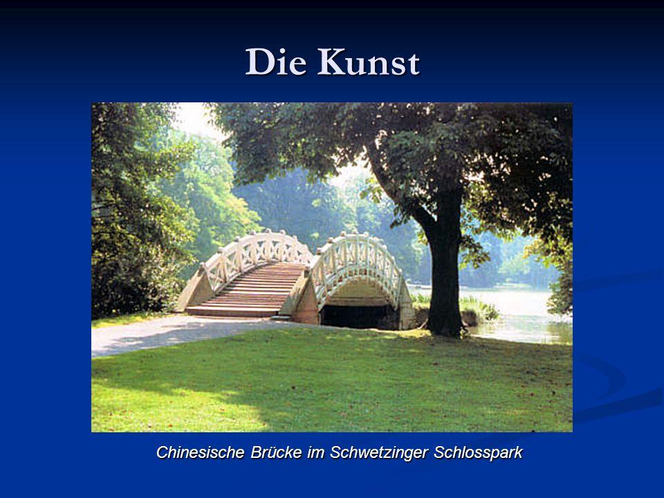 Die Kunst Chinesische Brücke im Schwetzinger Schlosspark