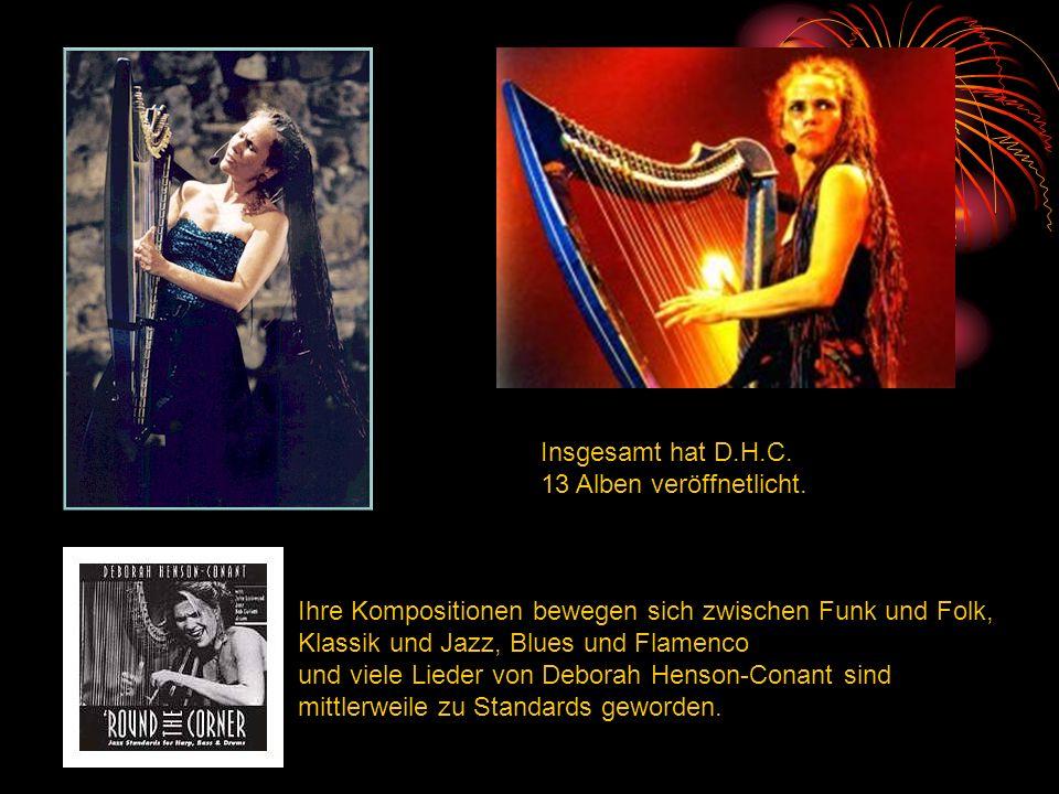 Ihre Kompositionen bewegen sich zwischen Funk und Folk, Klassik und Jazz, Blues und Flamenco und viele Lieder von Deborah Henson-Conant sind mittlerwe