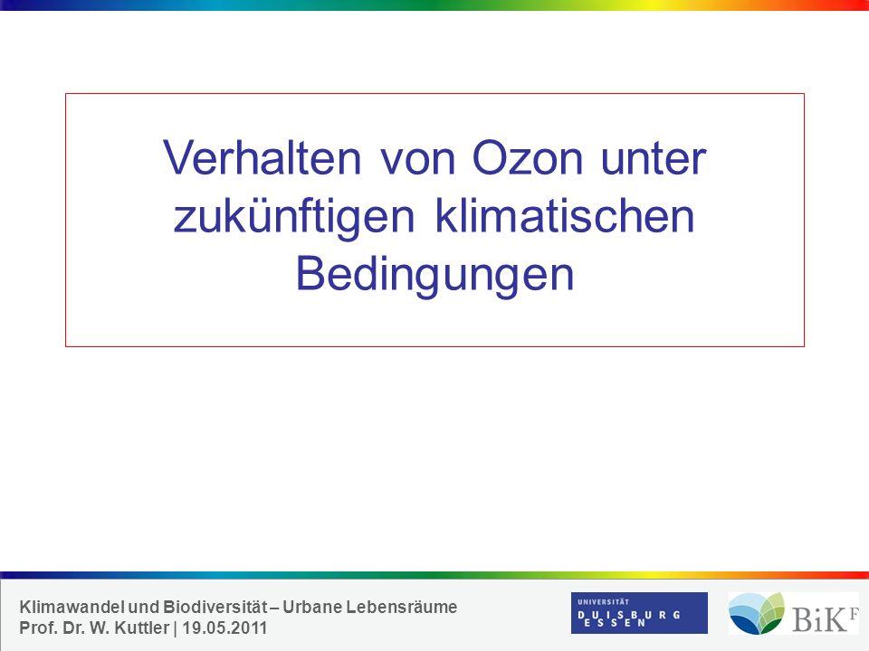 Klimawandel und Biodiversität – Urbane Lebensräume Prof.