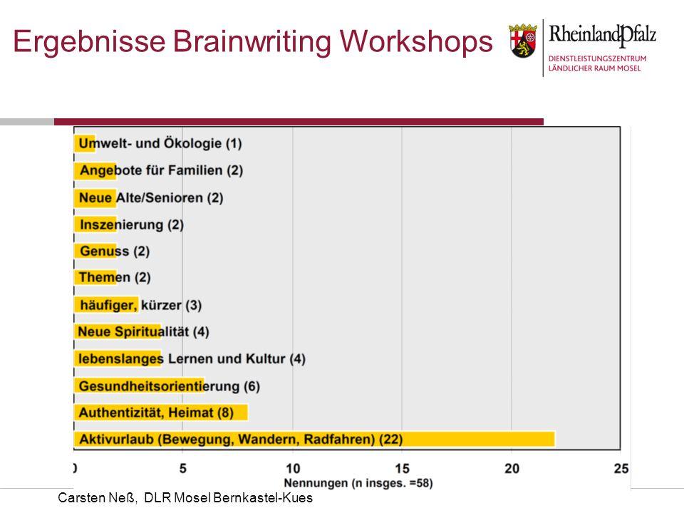 Carsten Neß, DLR Mosel Bernkastel-Kues Ergebnisse Brainwriting Workshops