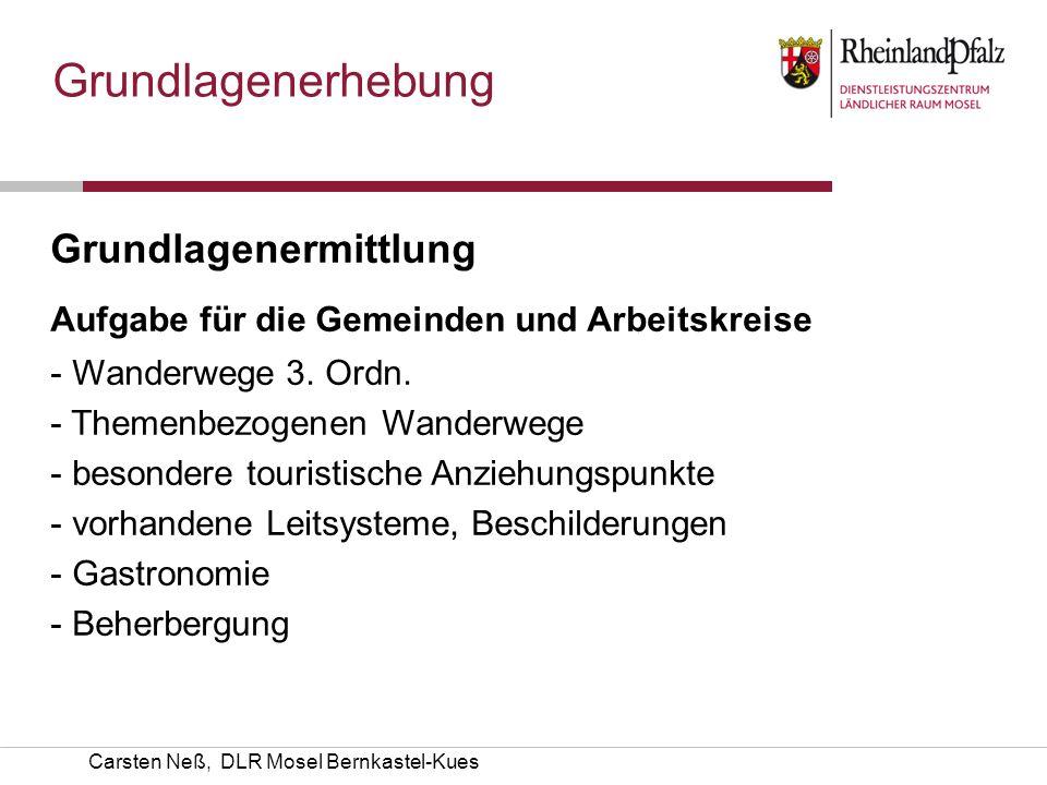 Carsten Neß, DLR Mosel Bernkastel-Kues Analyse überregionaler Trends Bedeutung für die Region Workshops mit örtlichen Akteuren SWOT-Analyse Potenzialanalyse