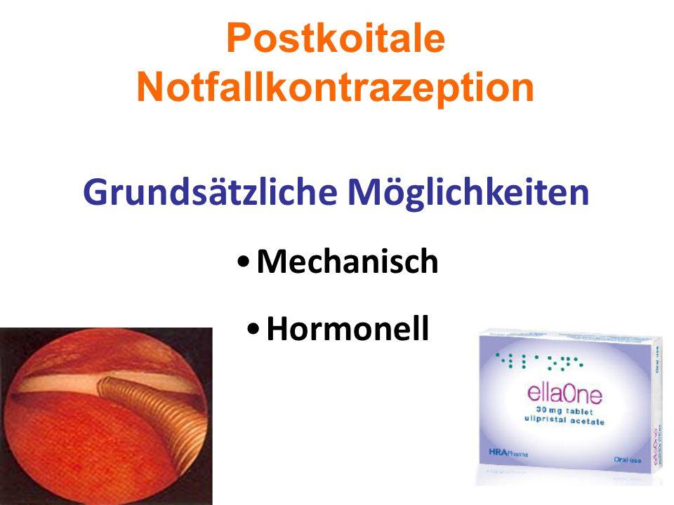 Postkoitale Notfallkontrazeption Grundsätzliche Möglichkeiten Mechanisch Hormonell