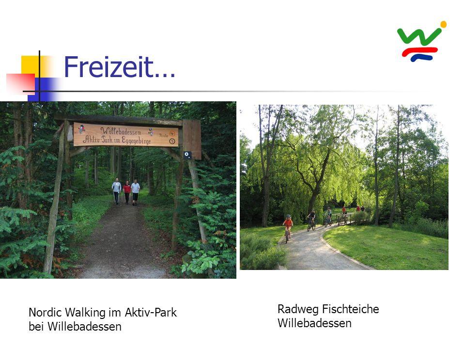 Freizeit… Radweg Fischteiche Willebadessen Nordic Walking im Aktiv-Park bei Willebadessen