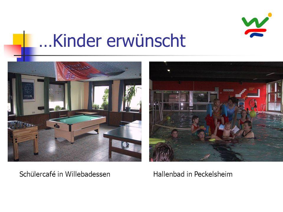 …Kinder erwünscht Schülercafé in WillebadessenHallenbad in Peckelsheim