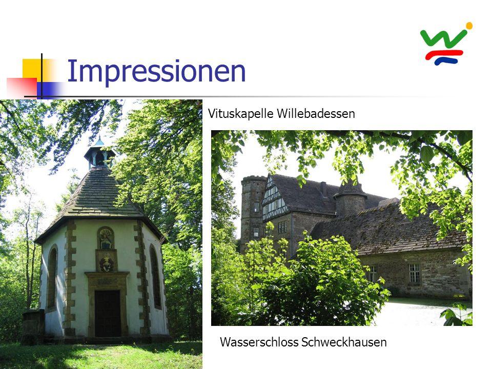 Impressionen Vituskapelle Willebadessen Wasserschloss Schweckhausen