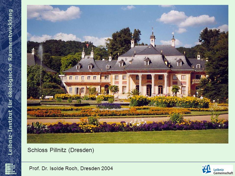 Leibniz-Institut für ökologische Raumentwicklung Prof. Dr. Isolde Roch, Dresden 2004 Schloss Pillnitz (Dresden)