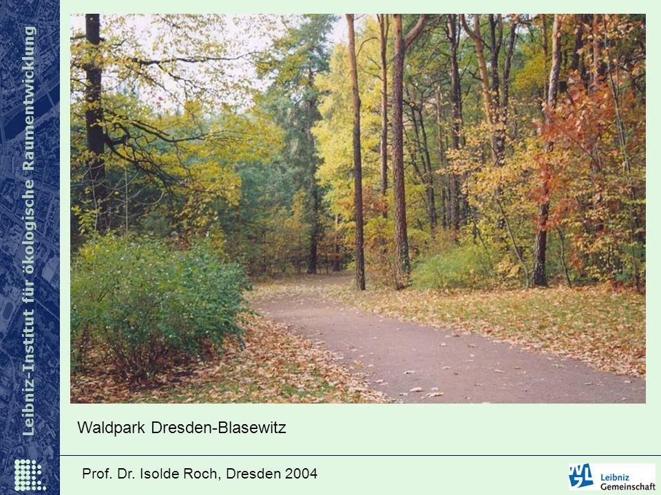Leibniz-Institut für ökologische Raumentwicklung Prof. Dr. Isolde Roch, Dresden 2004 Waldpark Dresden-Blasewitz