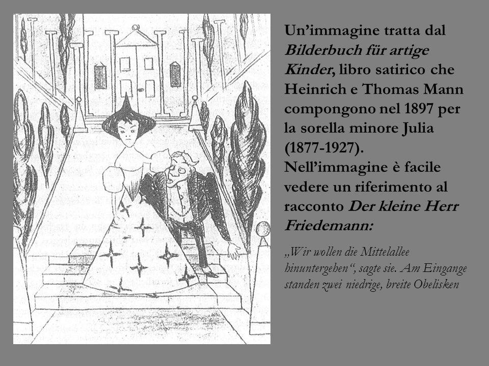 Unimmagine tratta dal Bilderbuch für artige Kinder, libro satirico che Heinrich e Thomas Mann compongono nel 1897 per la sorella minore Julia (1877-19