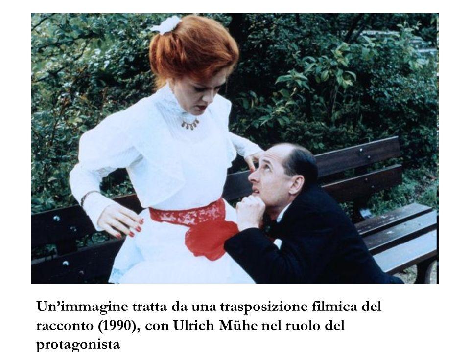 Unimmagine tratta da una trasposizione filmica del racconto (1990), con Ulrich Mühe nel ruolo del protagonista
