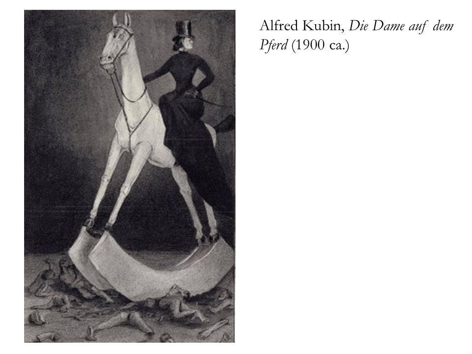 Alfred Kubin, Die Dame auf dem Pferd (1900 ca.)