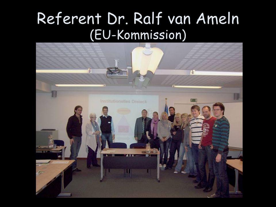 Referent Dr. Ralf van Ameln (EU-Kommission)