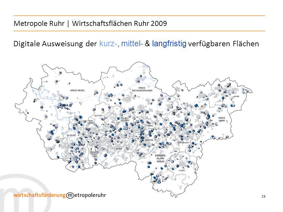 28 Metropole Ruhr   Wirtschaftsflächen Ruhr 2009 Digitale Ausweisung der kurz-, mittel- & langfristig verfügbaren Flächen