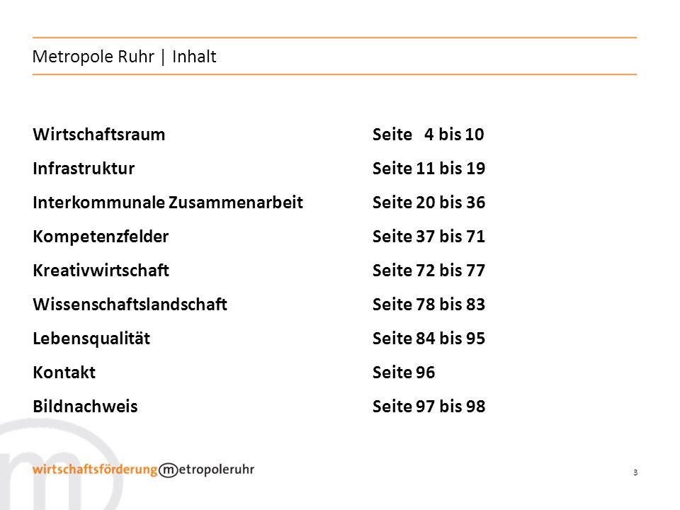 4 Metropole Ruhr   Wirtschaftsraum Wirtschaftsraum Lage in Europa Kommunale Strukturen Daten und Fakten Stärken der Region Flächen