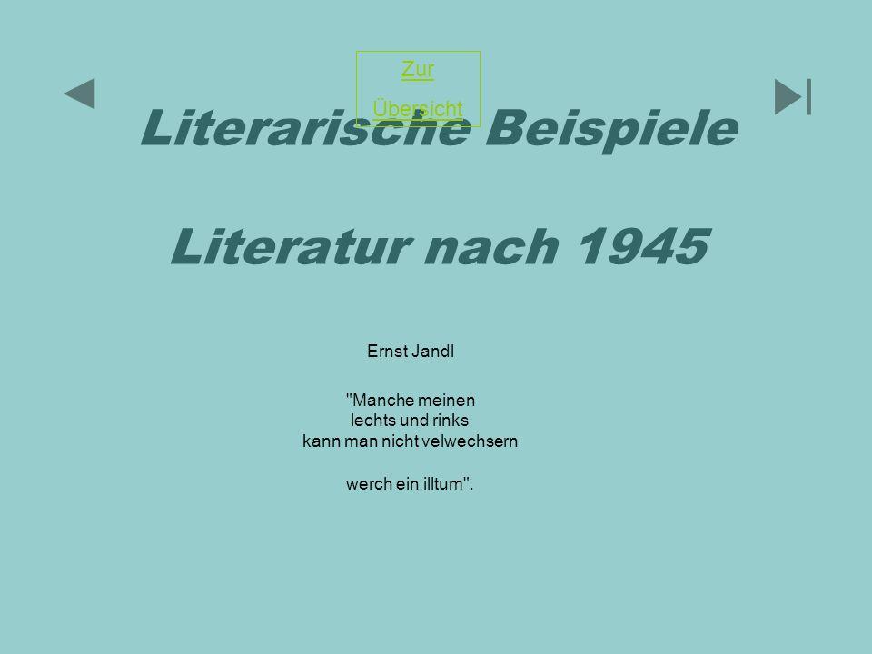 Literarische Beispiele Literatur nach 1945 Ernst Jandl