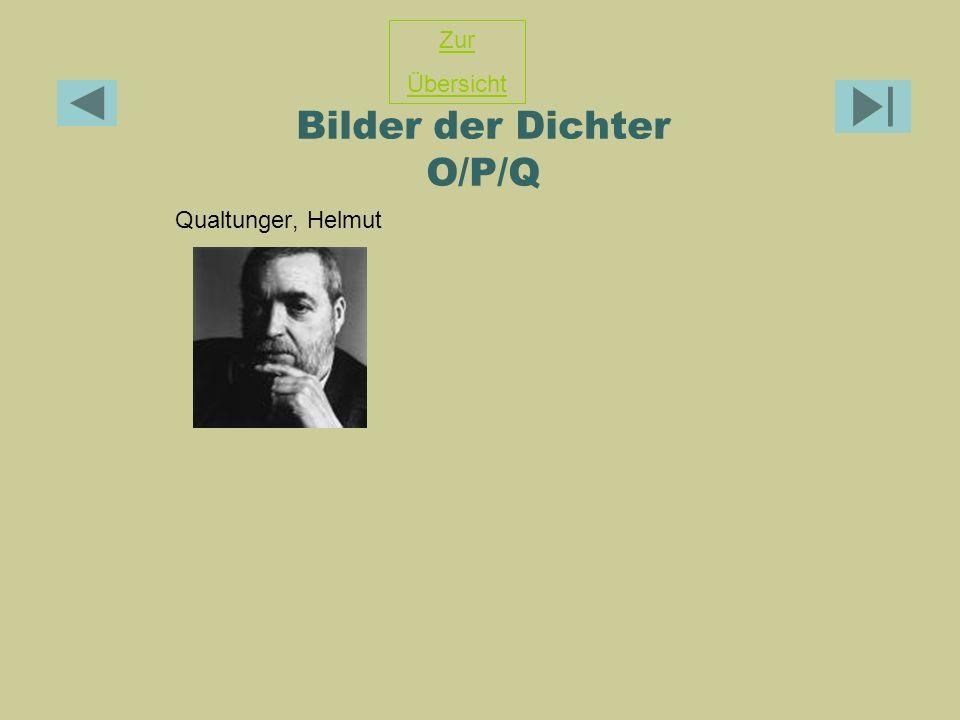 Bilder der Dichter O/P/Q Qualtunger, Helmut Zur Übersicht