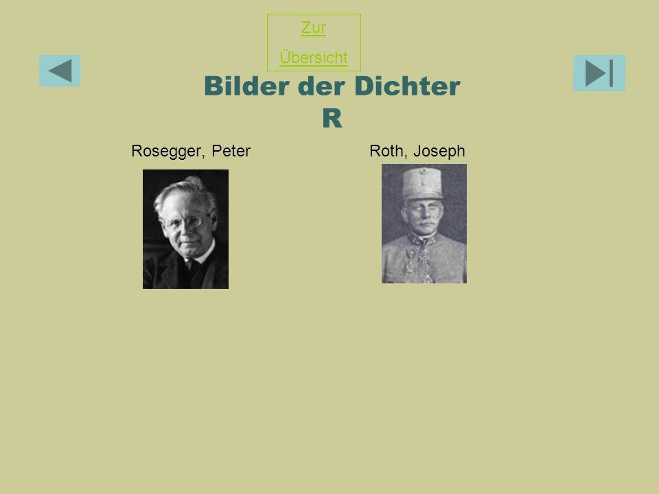 Bilder der Dichter R Rosegger, Peter Roth, Joseph Zur Übersicht