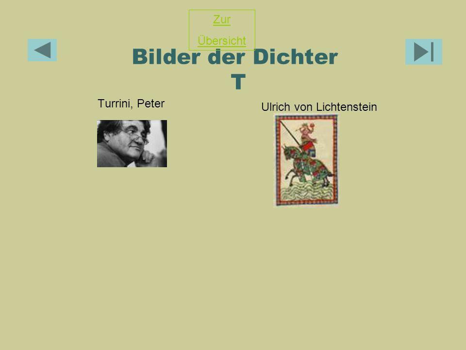 Bilder der Dichter T Turrini, Peter Ulrich von Lichtenstein Zur Übersicht