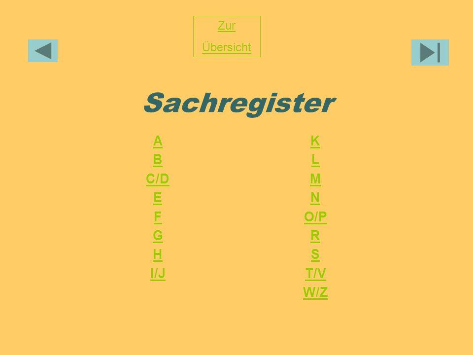 Sachregister Zur Übersicht A B C/D E F G H I/J K L M N O/P R S T/V W/Z