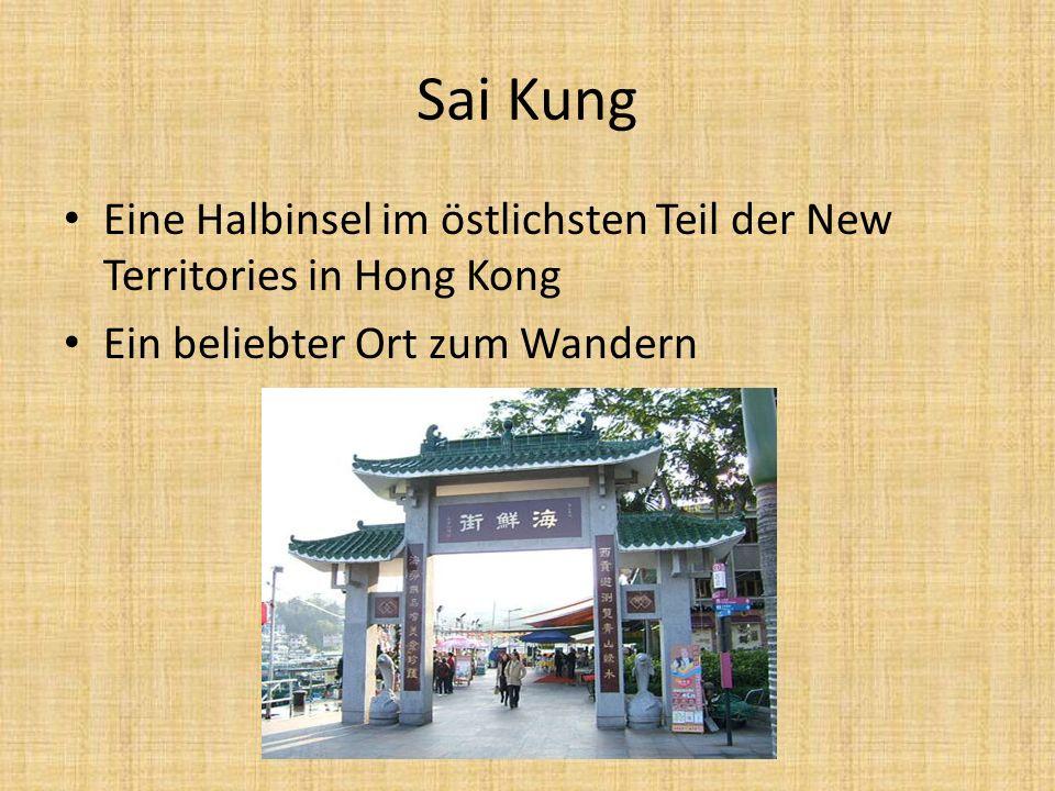 SAI KUNG COUNTRY PARK der größte Naturpark in Hongkong Er ist der Anfang des MacLehose Trail Tai Long Wan, einer der schönsten Strände, befindet sich dort