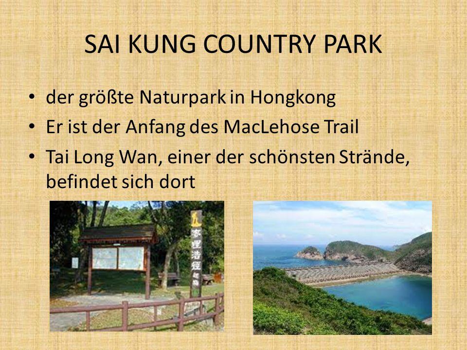 SAI KUNG COUNTRY PARK der größte Naturpark in Hongkong Er ist der Anfang des MacLehose Trail Tai Long Wan, einer der schönsten Strände, befindet sich