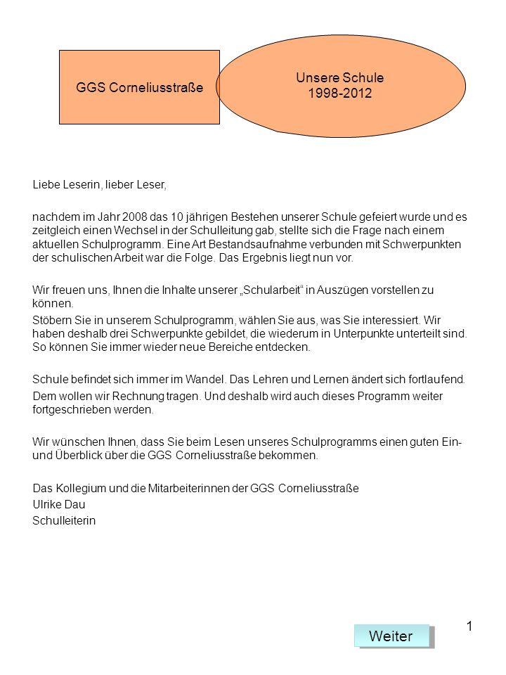 Arbeitsgemeinschaften Arbeitsgemeinschaften werden in der GGS Corneliusstraße eingerichtet, um den Kindern zu ermöglichen, sich jahrgangsübergreifend zusammen zu finden.