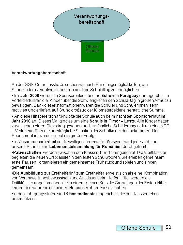 Verantwortungsbereitschaft An der GGS Corneliusstraße suchen wir nach Handlungsmöglichkeiten, um Schulkindern verantwortliches Tun auch im Schulalltag
