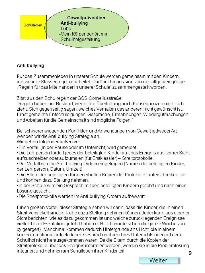 Lubo aus dem All Trainingsprogramm Lubo aus dem All fördert sozial-emotionale Kompetenzen Programm wird an der GGS Corneliusstraße im 1.