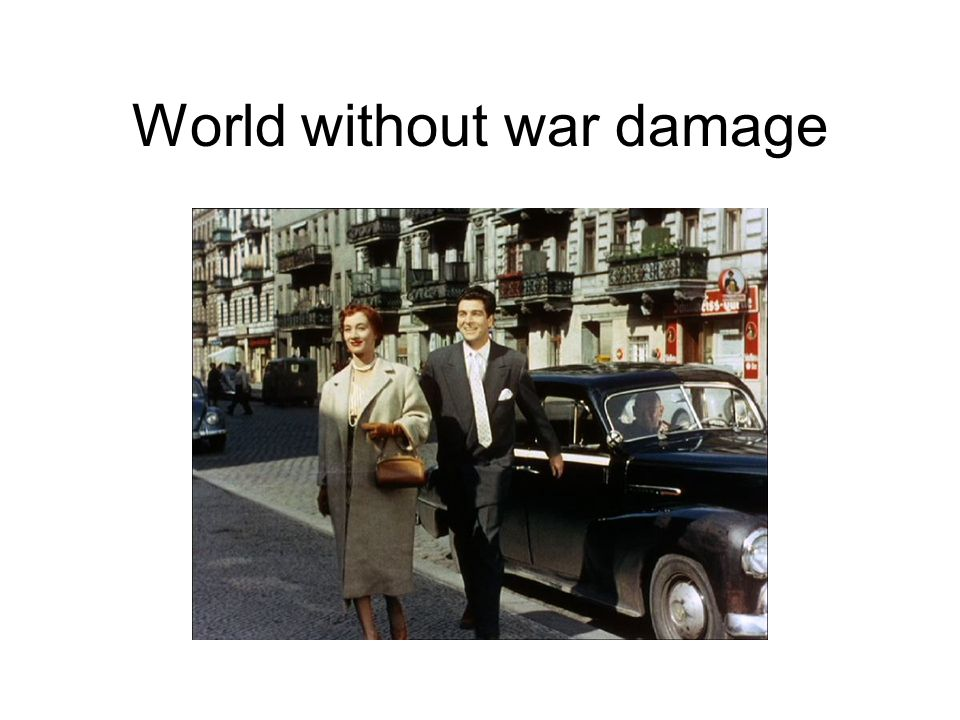 World without war damage