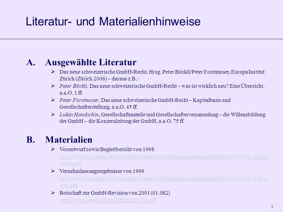 4 A.Geschichtliches 1)Erstes GmbH-Recht Einführung der GmbH in der Schweiz OR 1936 Ruhe vor Sturm für 55 Jahre 2)Erste GmbH-Rechtsrevision sog.
